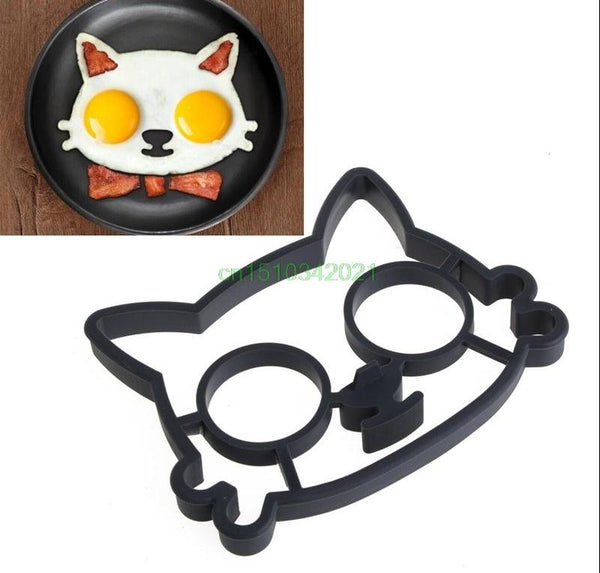 Silicone Rubber Cat-Shaped Breakfast Fried Egg Mold