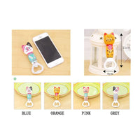 Cute Cat Wooden and Stainless Steel Magnetic Bottle Opener