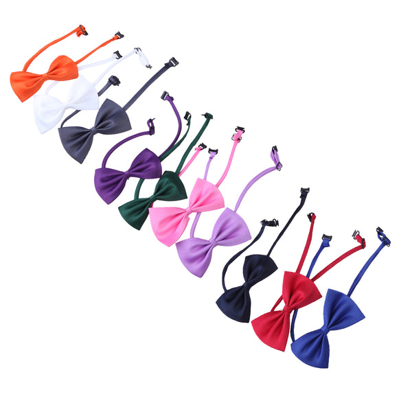 10-piece Set of Adjustable Colorful Cat Fashion Bowties from Cat Addict