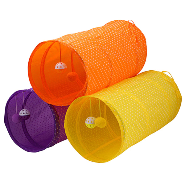 Polka Dot Collapsible Cat Tunnels