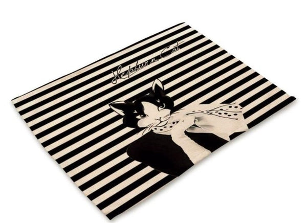 """Hepburn Cats"" Printed Placemat - 1"
