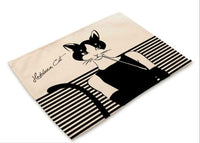 """Hepburn Cats"" Printed Placemat - 2"