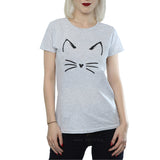 Harajuku Black T Shirt Women Tops Punk Cartoon Cat Face Letter Print Tee Shirt Femme T-shirt Casual Tee Shirt O-neck Rock Tops