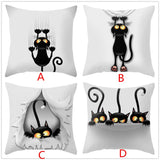 """Naughty Cat"" Decorative Throw Pillow Covers"