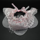 Frilly Cat Fashion Lace Collar Pink 2