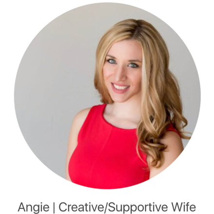 "image of Hatch Sleep company member Angie with caption ""Creative/supportive Wife"""