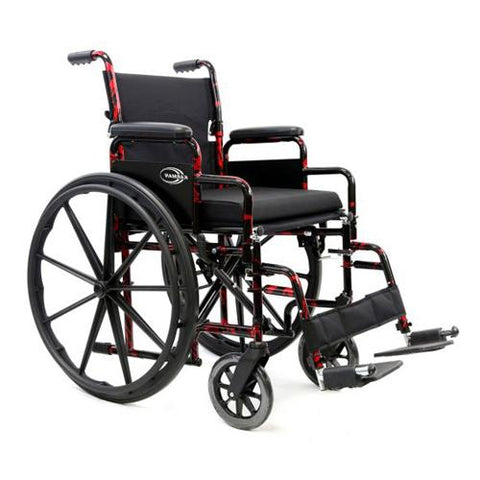 LT-770Q Red Streak Lightweight Manual Wheelchair - EZ MedBuy