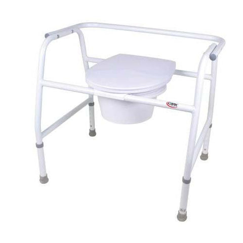 Carex Extra-Wide Steel Commode - EZ MedBuy