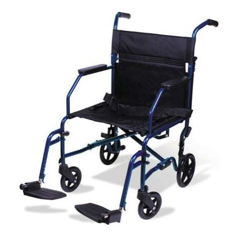 Carex Classics Transport Lightweight Manual Wheelchair - EZ MedBuy
