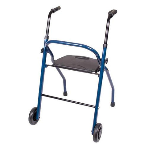 Carex Two Wheeled Walker with Seat - EZ MedBuy