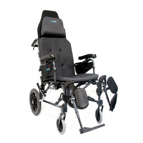 Karman MVP-502 Self Propel Lightweight Reclining Transport Chair
