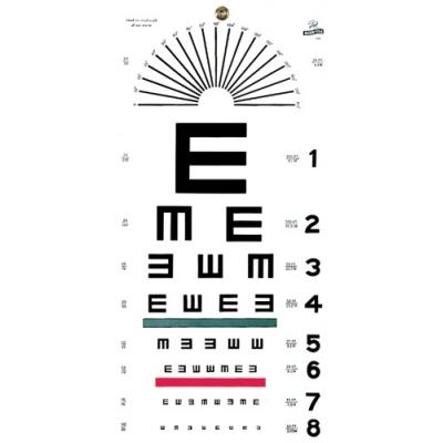 Graham Field Illiterate/Tumbling E Eye Chart