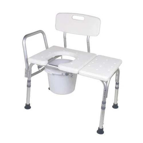 Carex Bathtub Transfer Bench With Opening & Bucket - EZ MedBuy