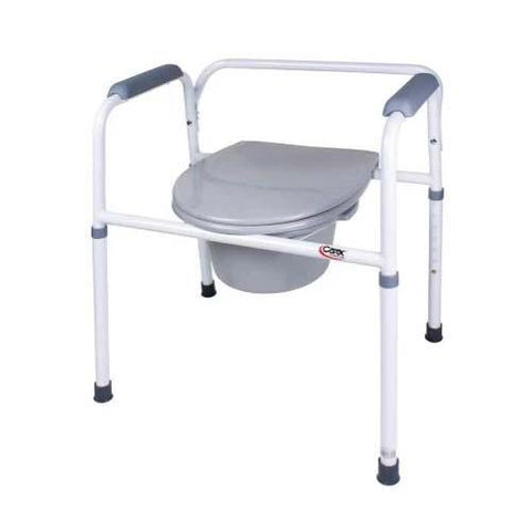 Carex Bedside Steel Commode - EZ MedBuy