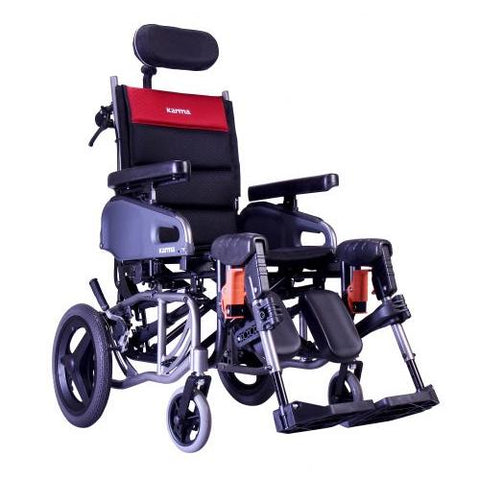 Karman VIP2-TR Tilt in Space Reclining Transport Wheelchair