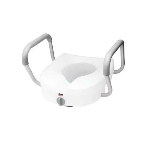 Carex E-Z Lock Raised Toilet Seat