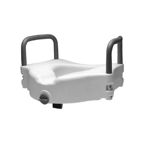 Locking Raised Toilet Seat With Removable Armrests - EZ MedBuy