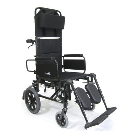 Karman KM-5000 Self Propel Lightweight Reclining Transport Chair