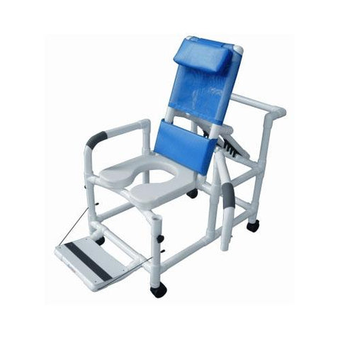 "20"" PVC Reclining Shower Commode Chair - EZ MedBuy"