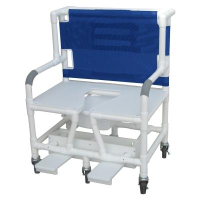 "30"" Bariatric Commode Bath Chair with Sliding Footrest - EZ MedBuy"