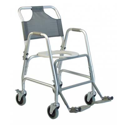 Deluxe Shower Transport Chair with Footrests - EZ MedBuy