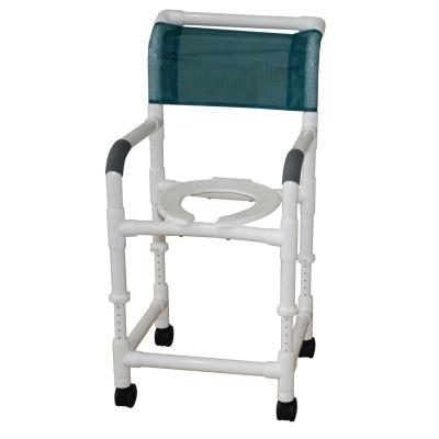 "18"" PVC Shower Commode Chair with Adjustable Height - EZ MedBuy"