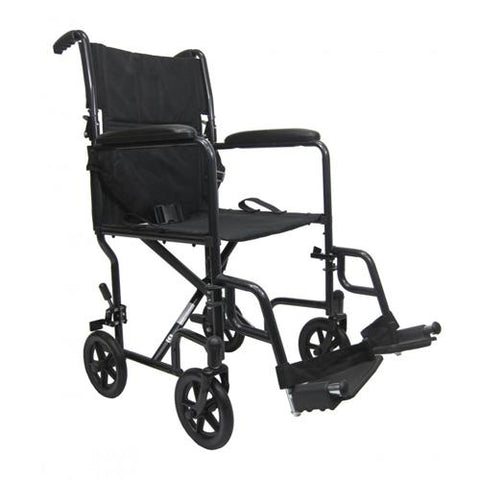Ultra-Lightweight Aluminum Transport Manual Wheelchair - EZ MedBuy