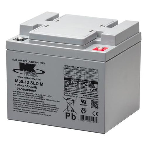 Lead Acid 50Ah Pair/ FR 1684S II & FR 510F II (MK Battery) - EZ MedBuy
