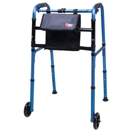 Carex Explorer Folding Walker with Wheels - EZ MedBuy