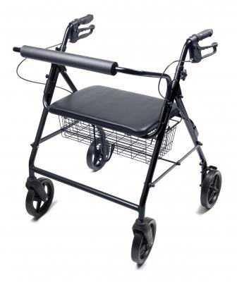 Walkabout Four-Wheel Manual Imperial Rollator - EZ MedBuy