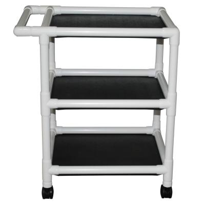 PVC Three-Shelf Utility Cart - EZ MedBuy