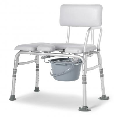 Padded Commode Transfer Bench - EZ MedBuy