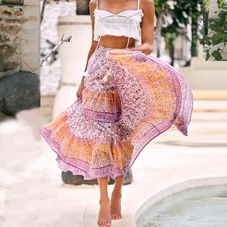 Floral casual  skirts