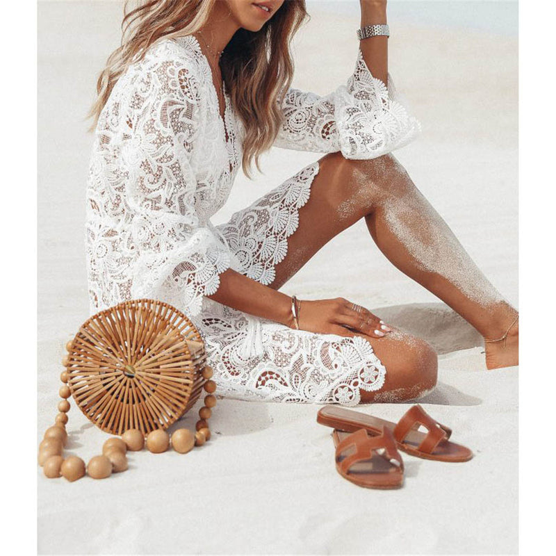 White Lace Tunic Cover Up