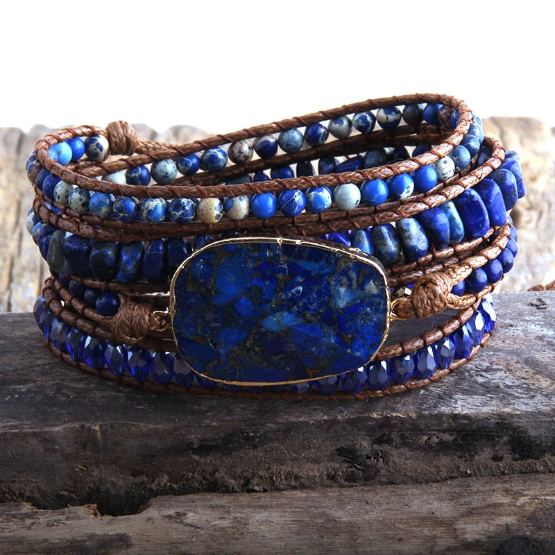 Bracelet Handmade Mixed Natural Stones