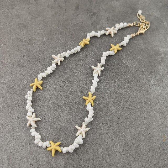 Shell Pendant Choker Necklace