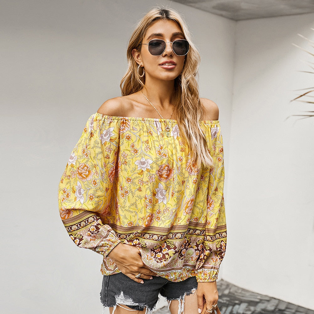 Sexy Shirt Off Shoulder Full Sleeve