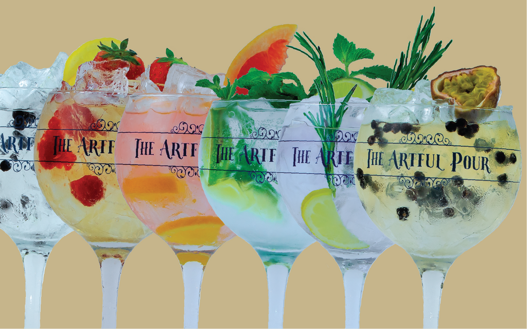 The Artful Pour Gin Cocktail G&T recipes - Classic Pours and Artful Pours