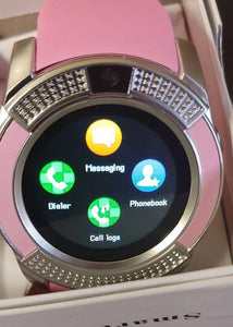 V Series Pink Smart Watch