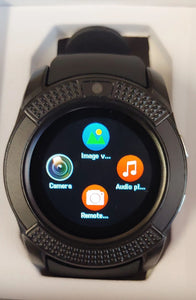 V Series Black Smart Watch