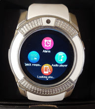 V Series White Smart Watch