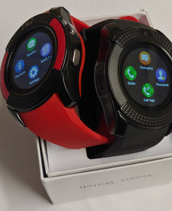 Her & His V Series Black & Red Smart Watch