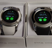 Her & His V Series Black & White Smart Watch