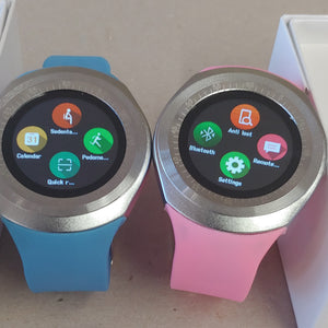 Y Series Her & His Pink & Blue Smart Watch