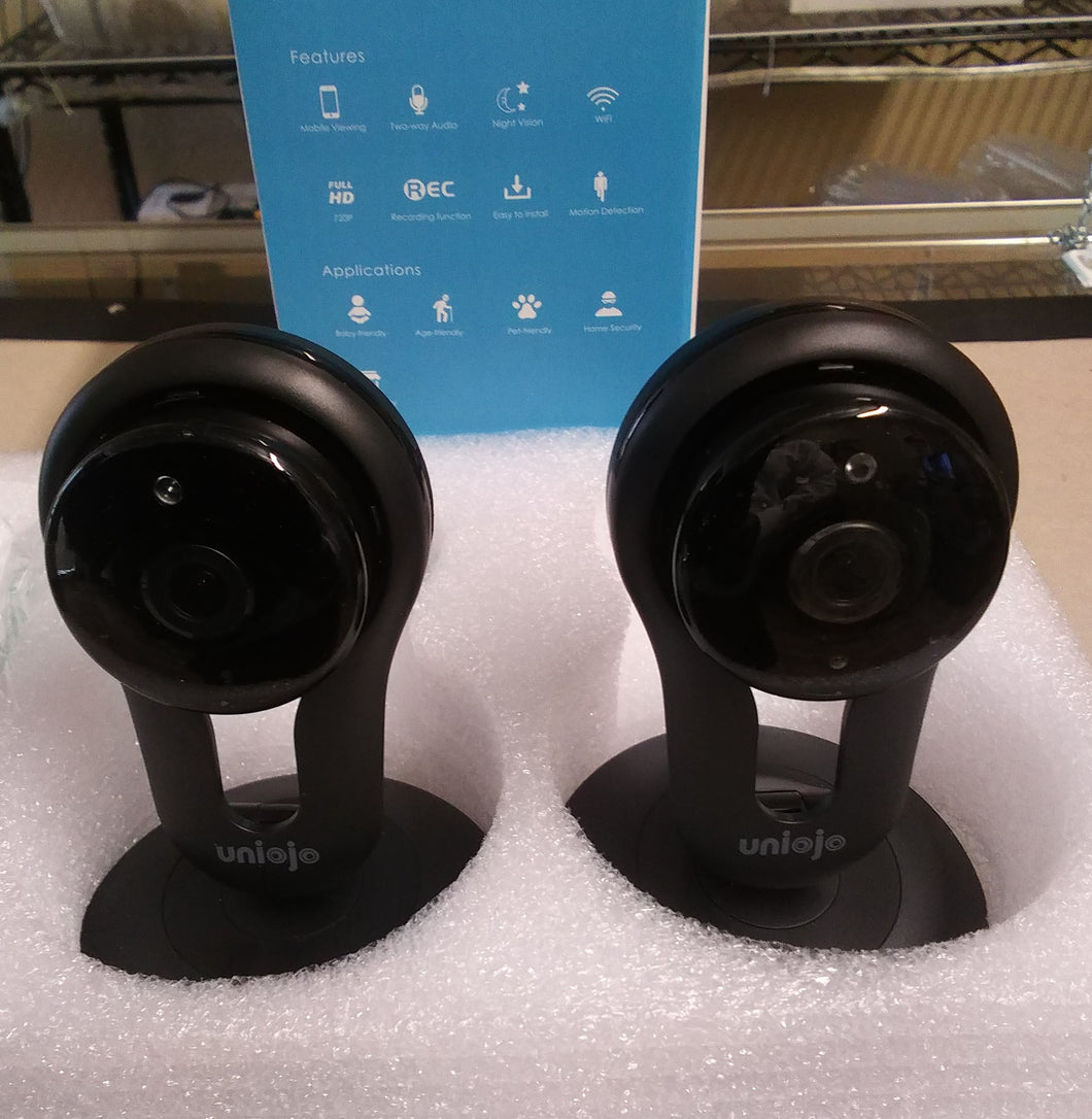 Twin Uniojo Indoor WiFi Security Cameras