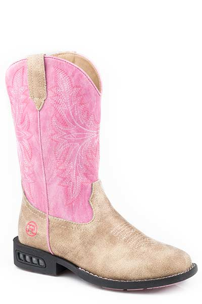 Pink Light Up Kid's Boot by Roper®