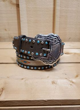Aztec and Turquoise Women's Belt by Nocona