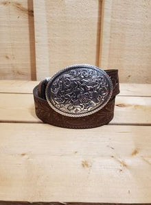 Floral Tooled Women's Belt by Nocona