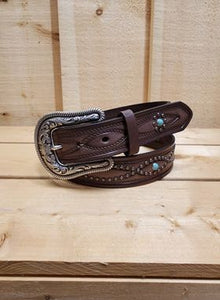 Spots and Turquoise Chocolate Women's Belt by Ariat
