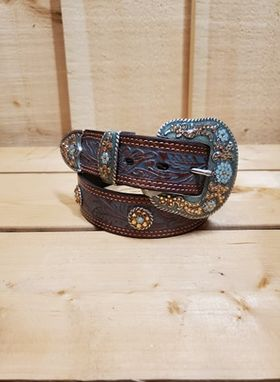 Steel Blue and Brown Women's Belt by Nocona
